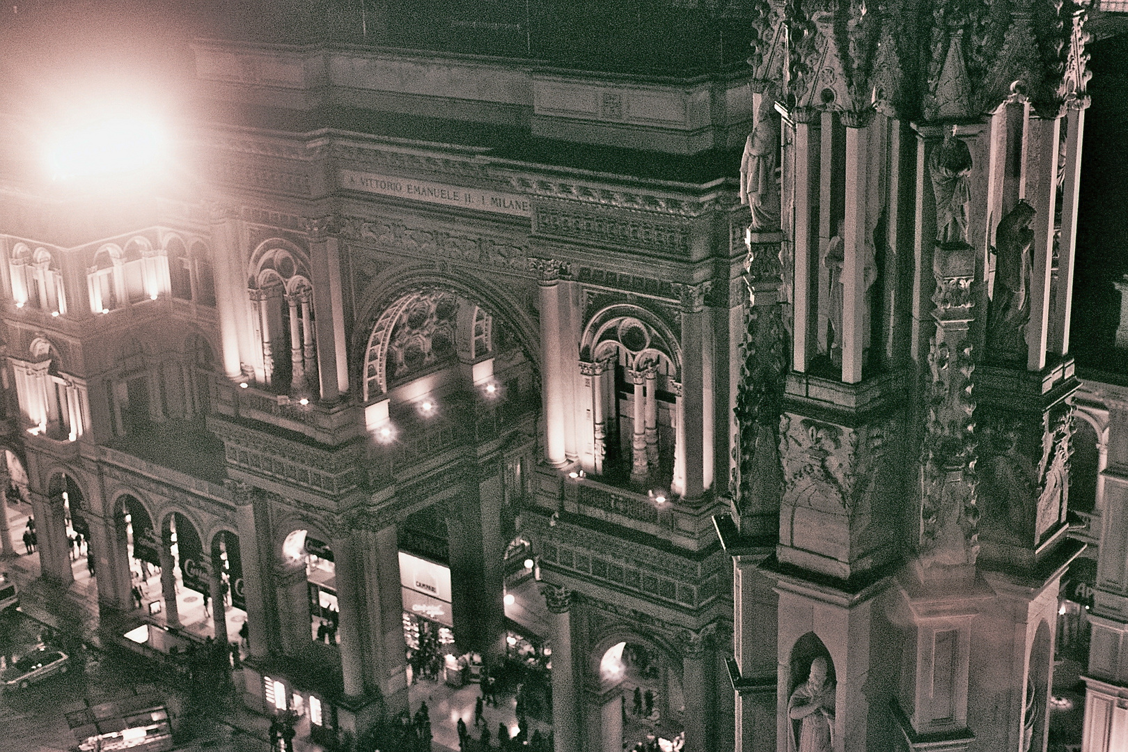 Blick vom Dom in Mailand