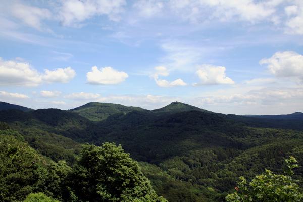 Blick vom Drachenfels aufs Siebengebirge