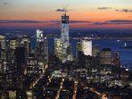 Blick vom Empire State Building auf die Südspitze Manhattans