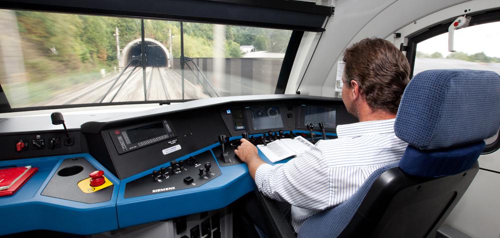 Blick vom Führerstand des ÖBB-Railjet