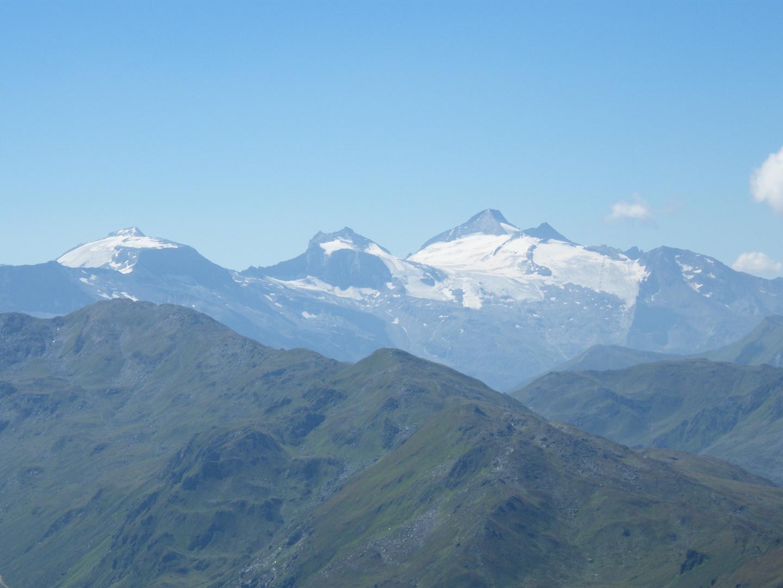 Blick vom Gilfert zum Hintertuxer Gletscher
