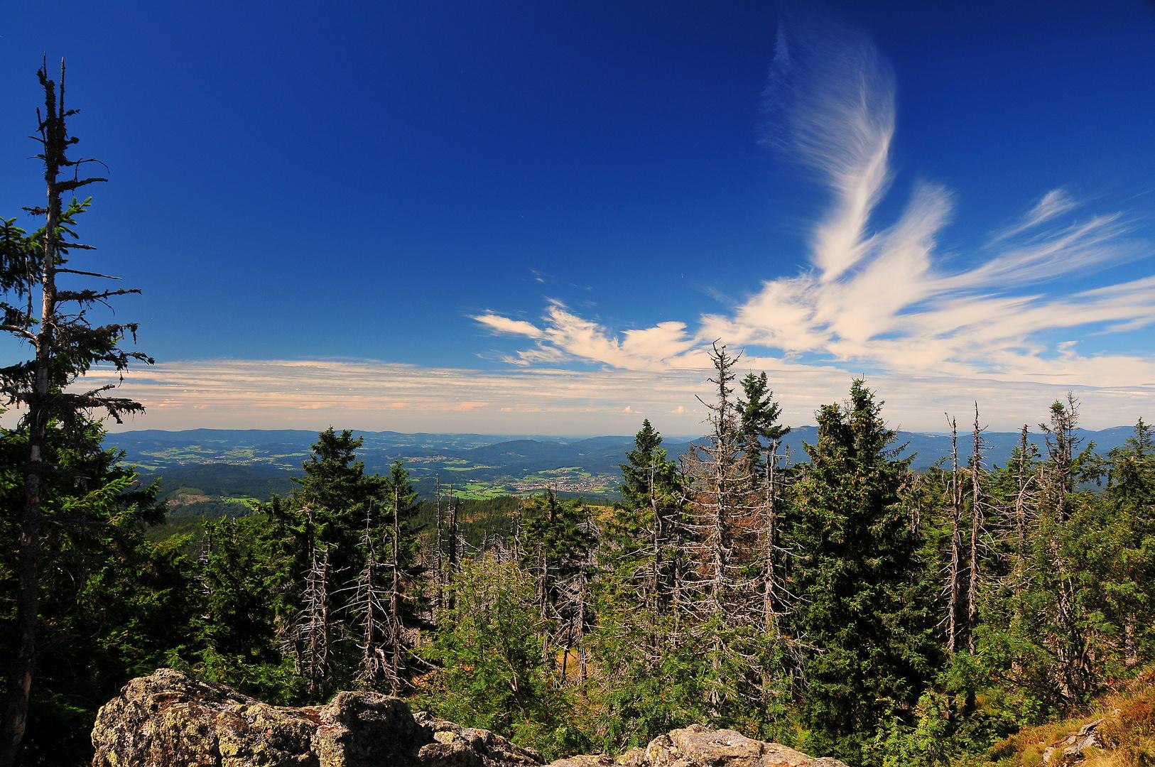 Blick vom Gipfel des Rachel