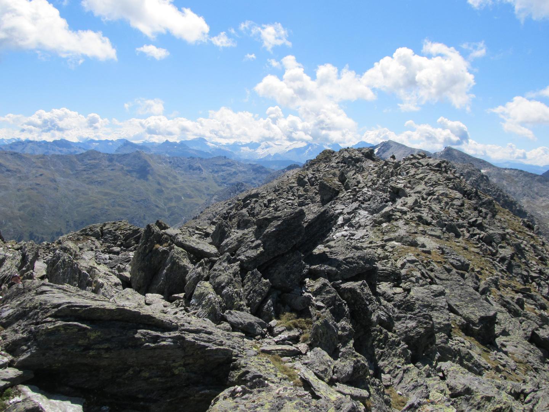 Blick vom Glungezer zu den Zillertaler Alpen