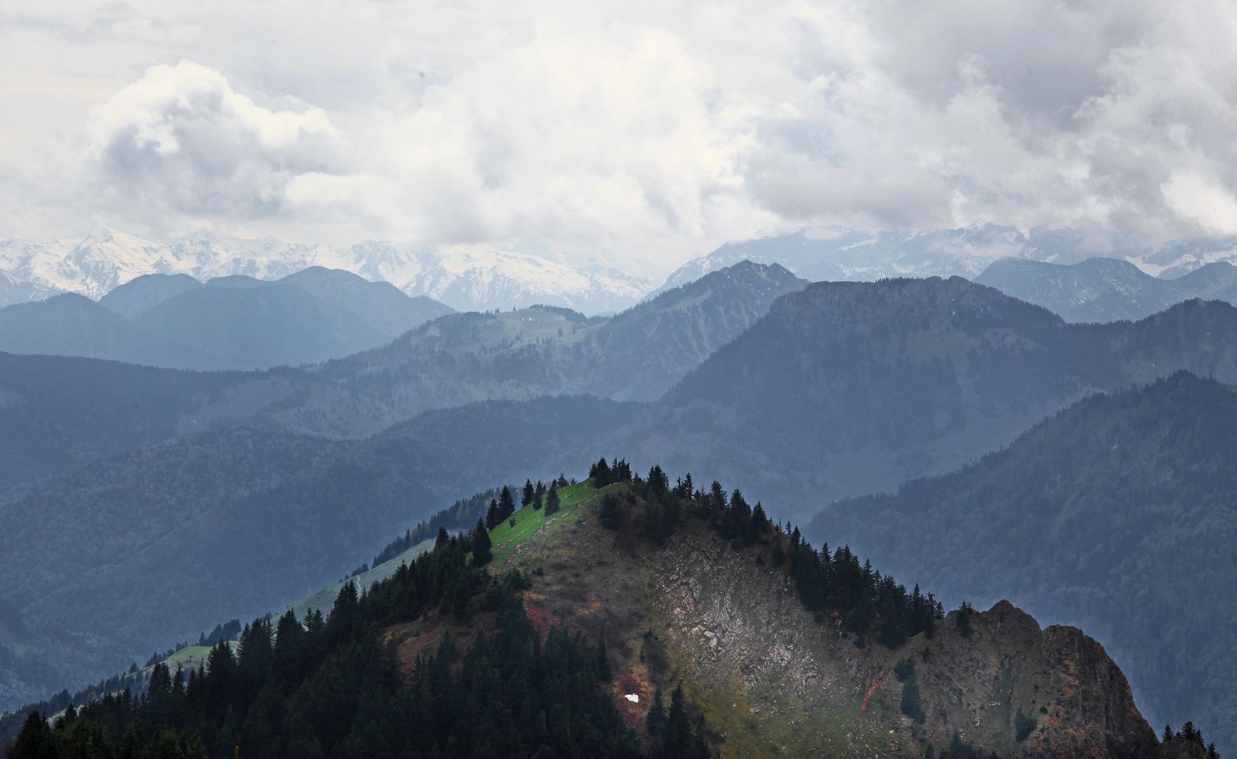 Blick vom Hochries im Chiemgau