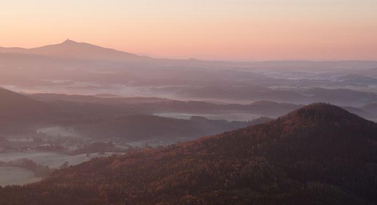 Blick vom Hochwald zum Jeschken