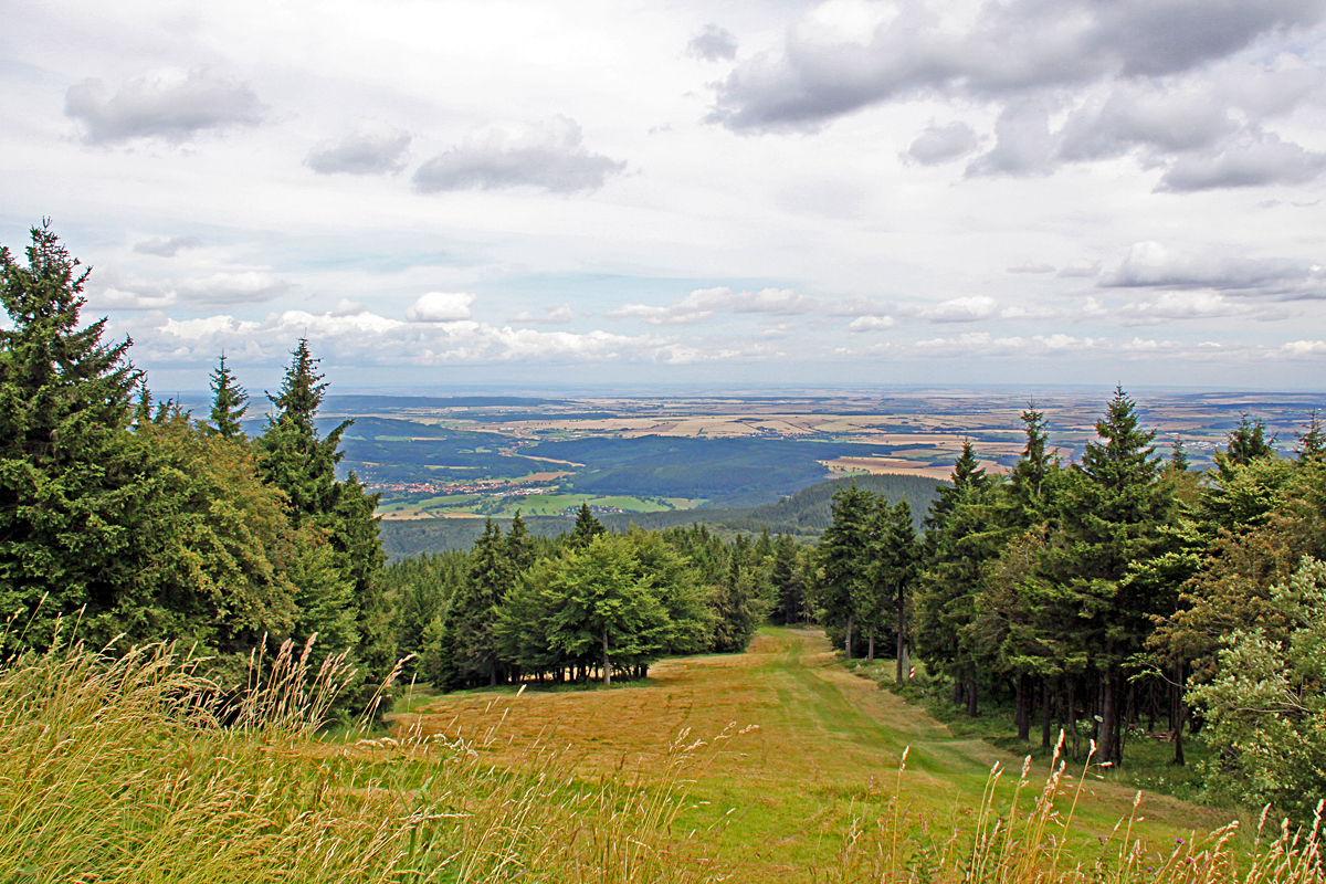Blick vom Inselsberg Kreis Eisenach