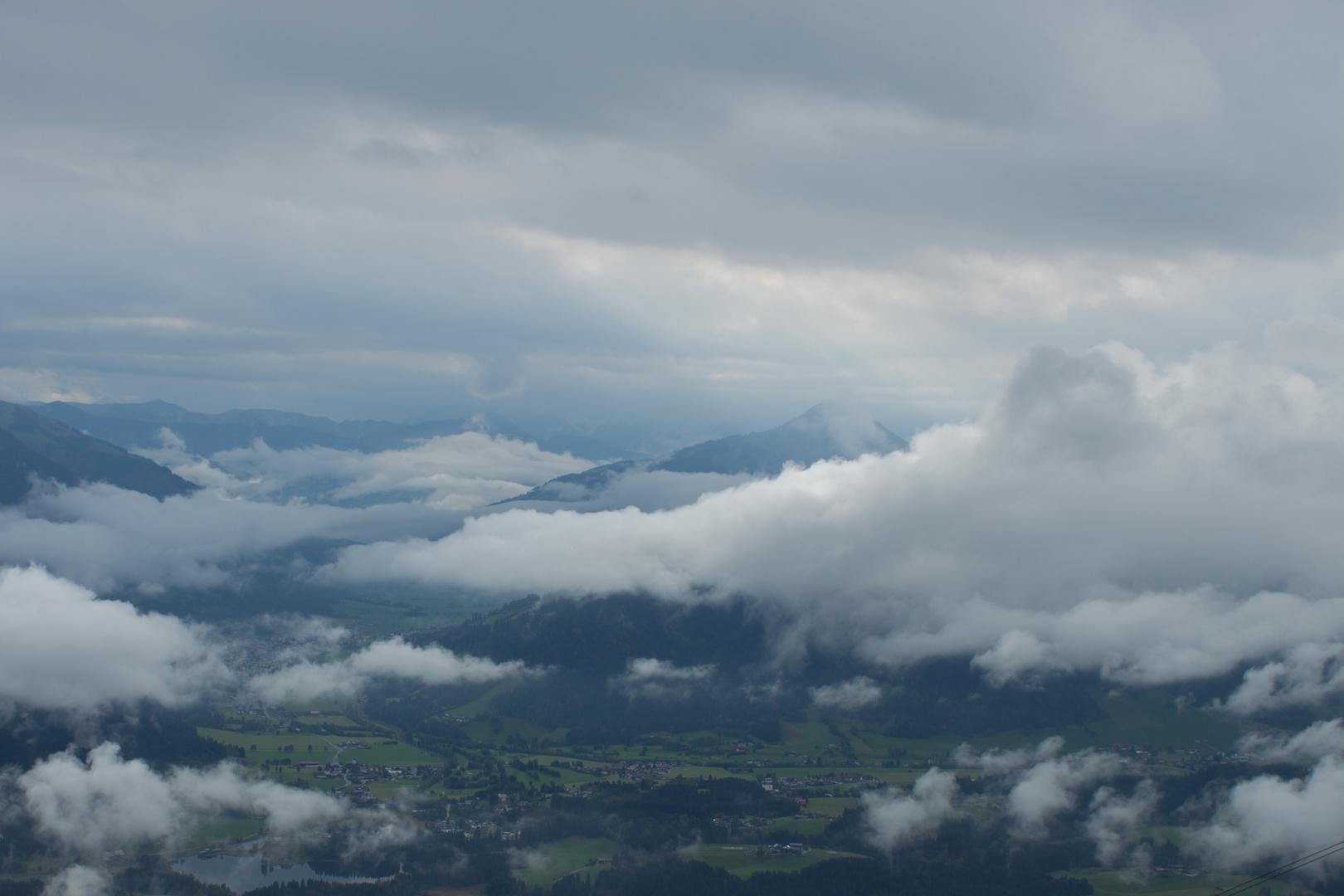 Blick vom Kitzbühler Horn talwärts