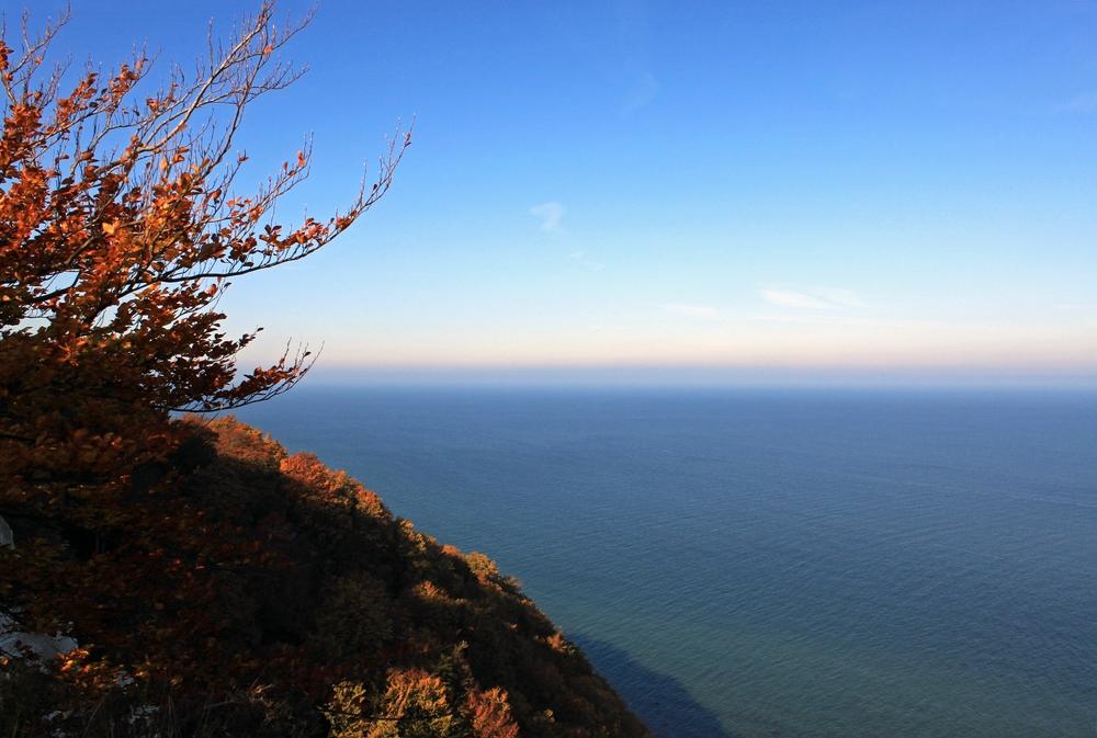 Blick vom Kreidefelsen auf Rügen auf die Ostsee