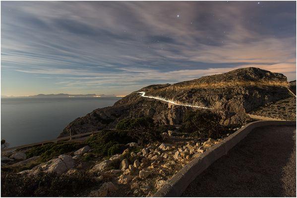 Blick vom Leuchttrum auf Formentor