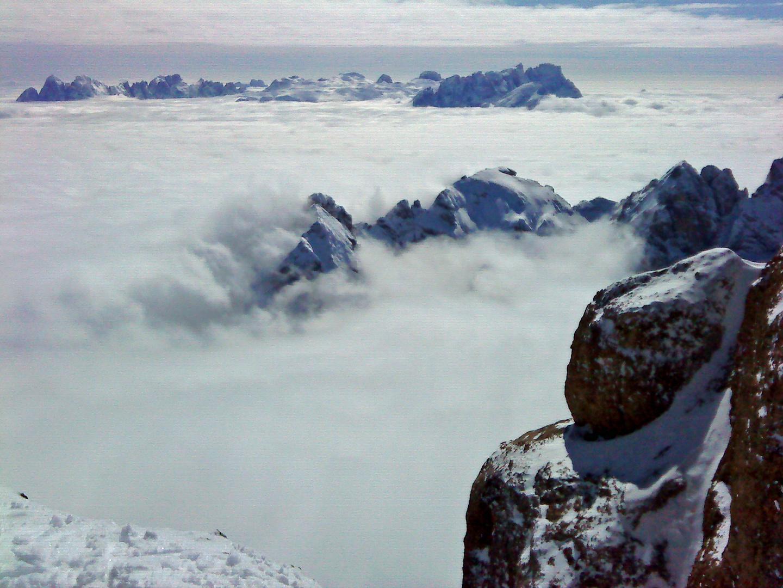 Blick vom Marmolada (Punta Rocca) in den Dolomiten