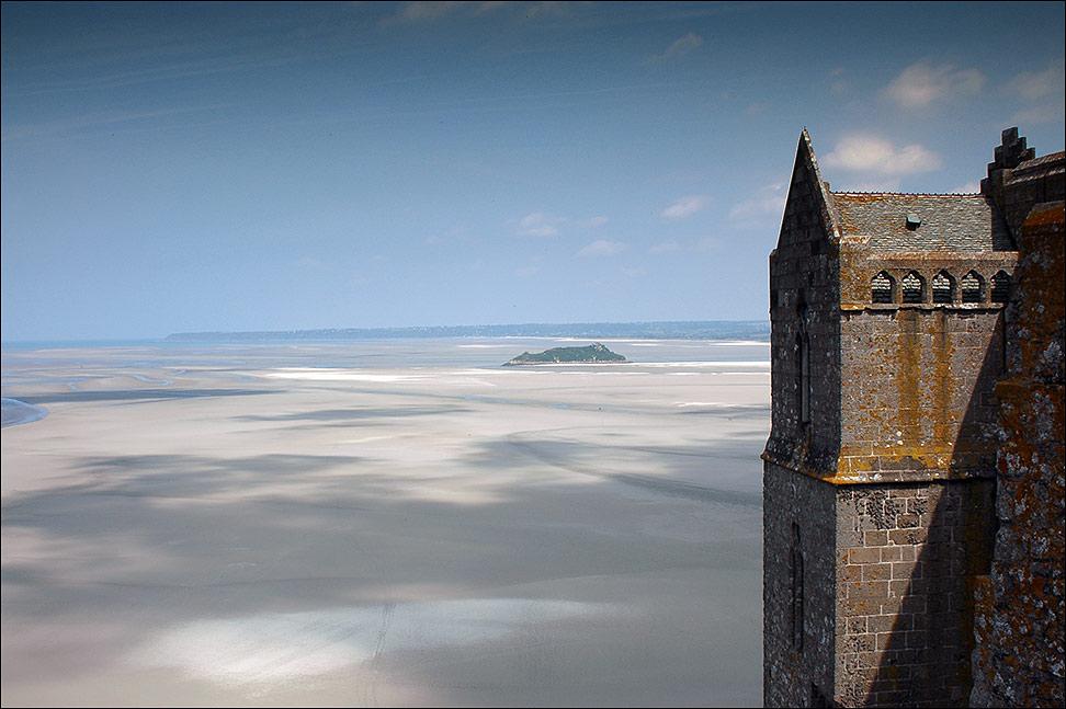 Blick vom Mont Saint Michel