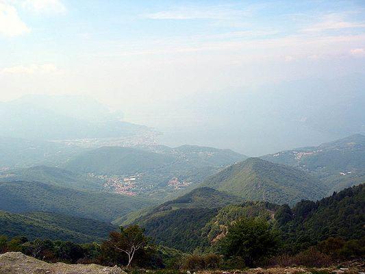 Blick vom Monte Lema