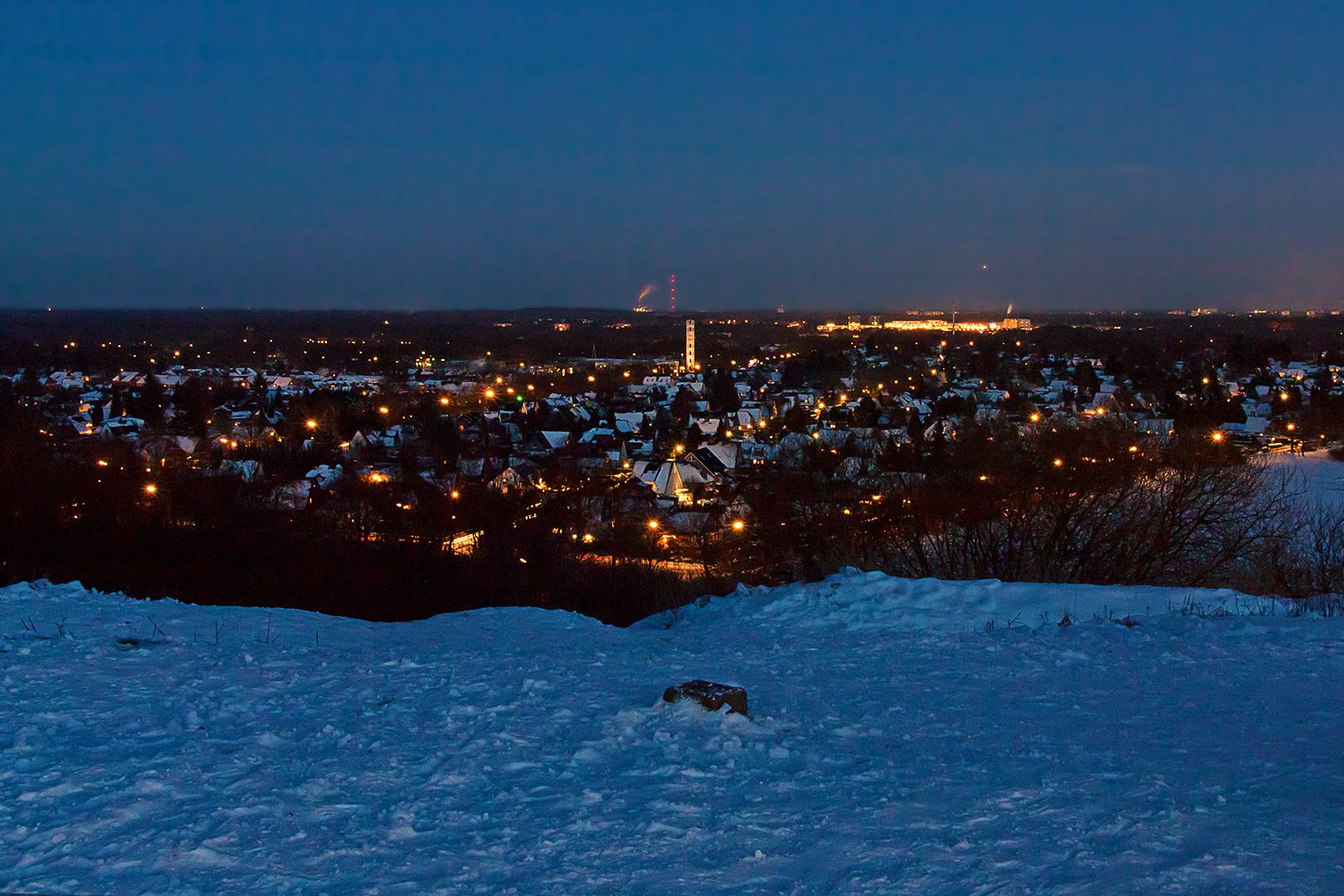 Blick vom Müllberg nach Südosten(!)