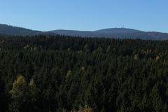 Blick vom Ottofelsen zum Brocken