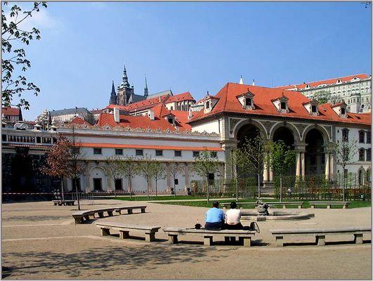 Blick vom Palais Waldstein zum Hradschin