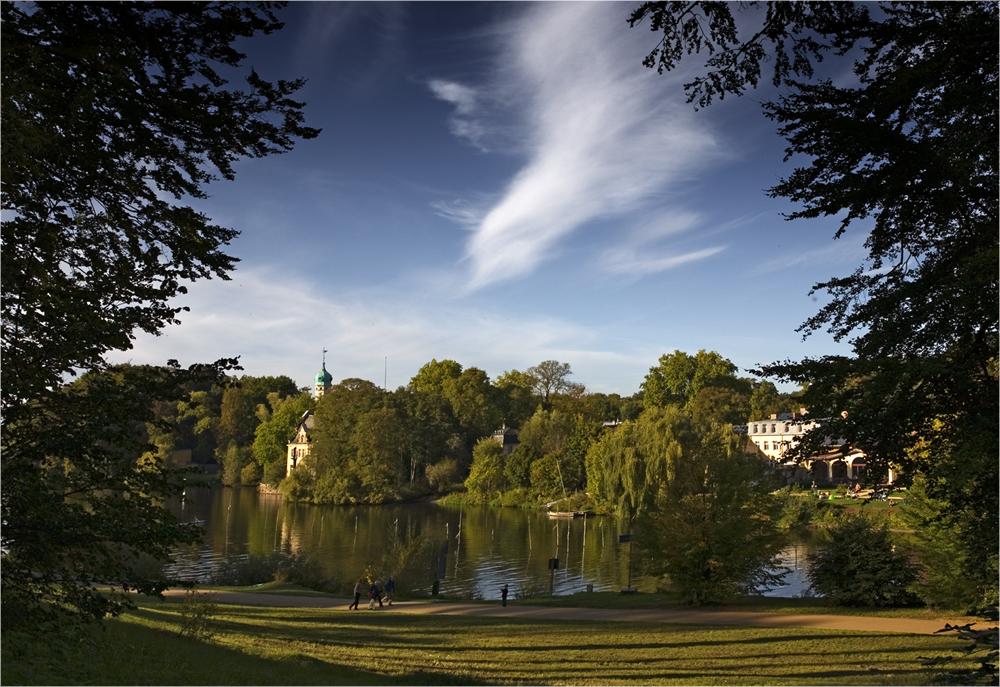Blick vom Park Babelsberg auf Klein-Glienicke