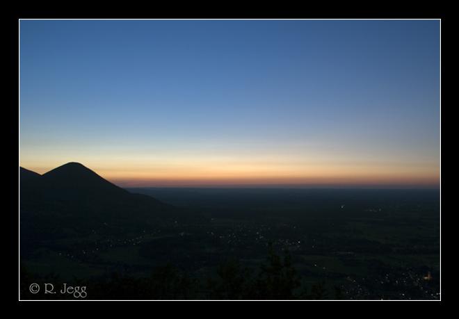 Blick vom Petersberg nach Sonnenuntergang