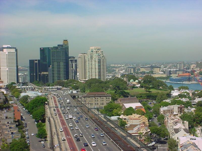 Blick vom Pylon der Harbour Bridge