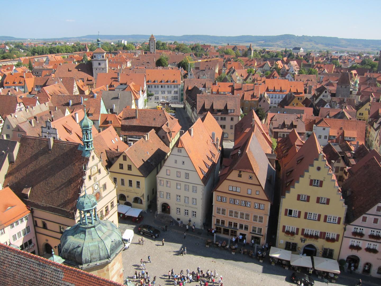 Blick vom Rathausturm auf die Altstadt von Rothenburg o.d.T.