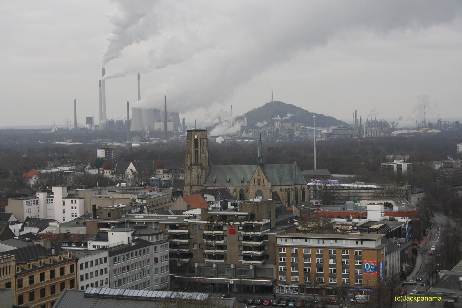 Blick Vom Rathausturm In Gelsenkirchen Buer Foto Bild