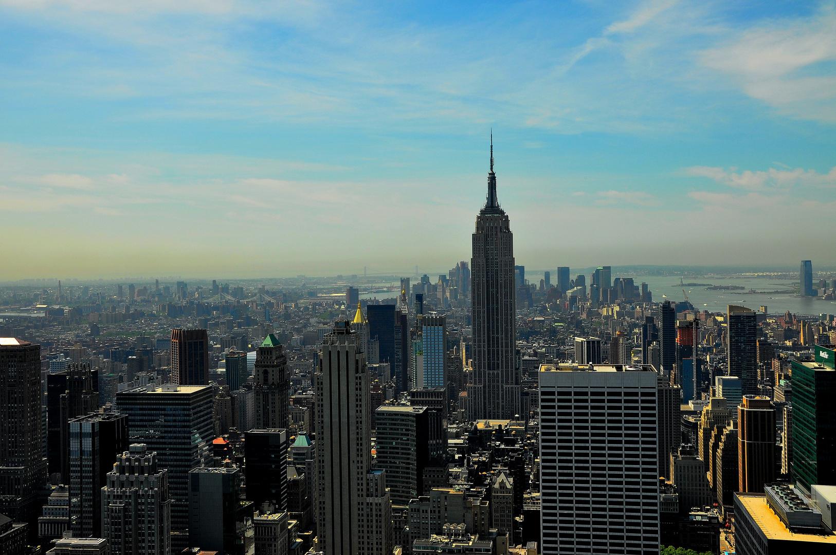 Blick vom Rckefeller Center über Manhattan