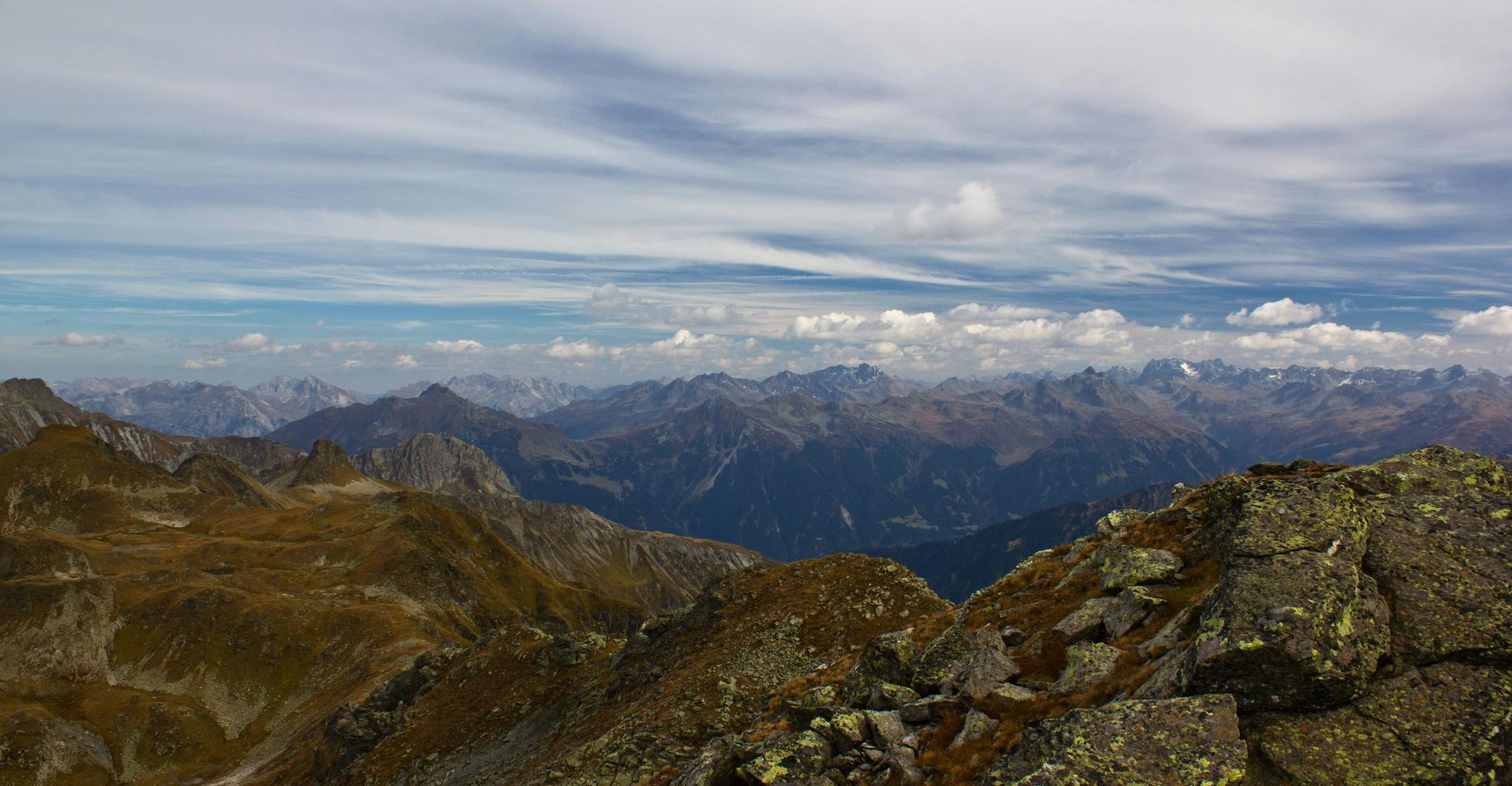 Blick vom Riedkopf 2552 m