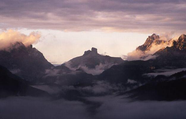 Blick vom Rifugio Vandelli (1.928m) nach Nordenosten über den Misurina-See (1.756m)