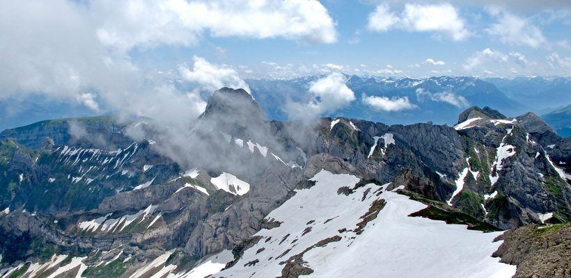 Blick vom Säntis im Appenzell