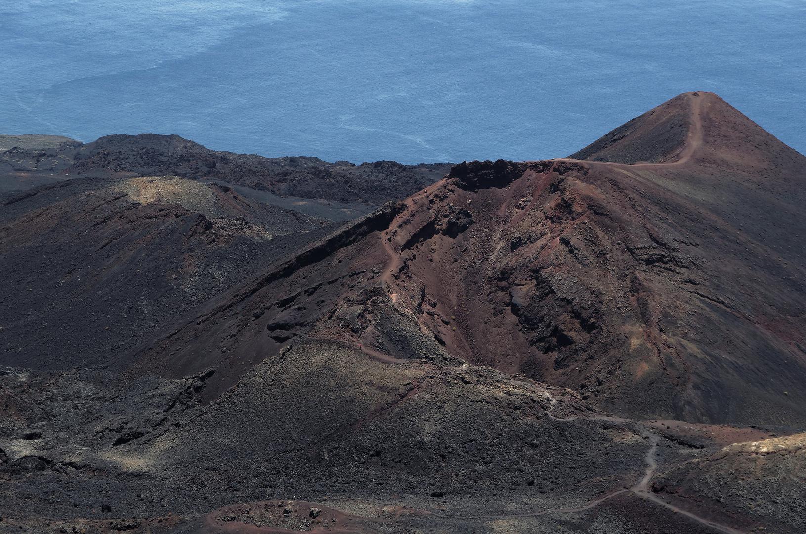 Blick vom San Antonio auf den Vulkan Teneguia, La Palma, Mai 2012