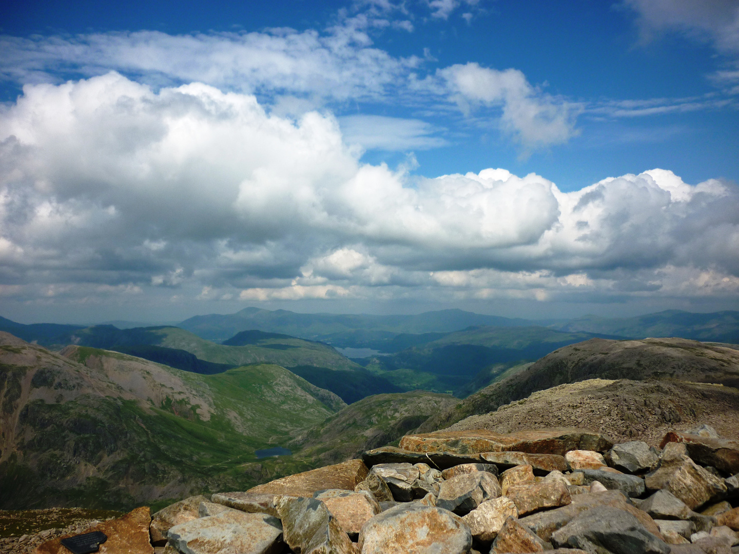 Blick vom Scafell Pike