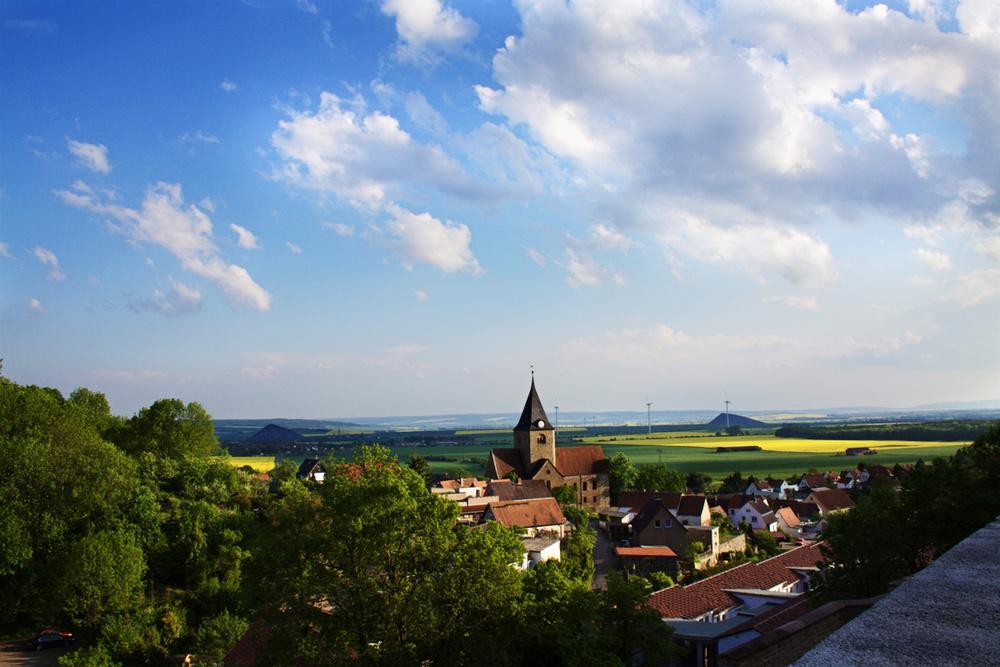 Blick vom Schloss Beyernaumburg