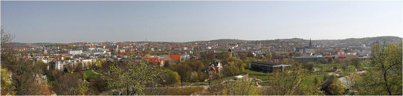 Blick vom Schloß Osterstein auf Gera