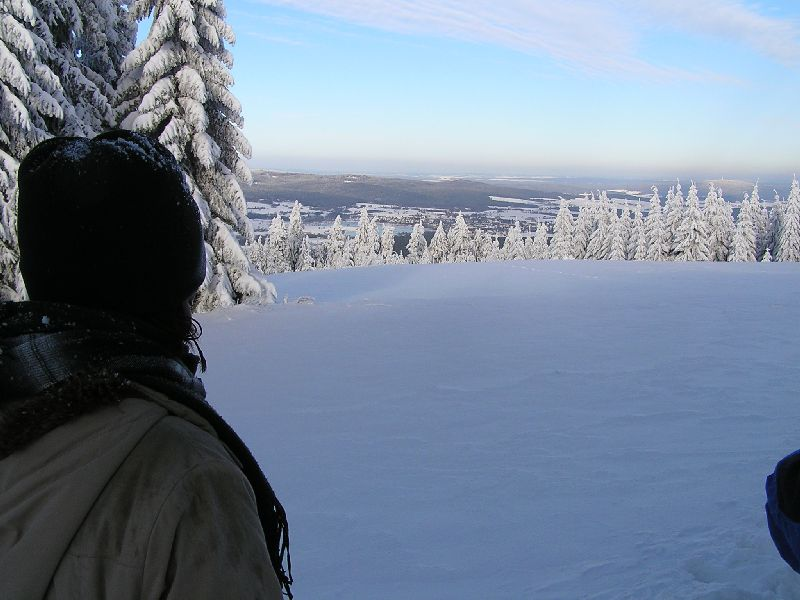 Blick vom Schneeberg zum Weissenstädter See