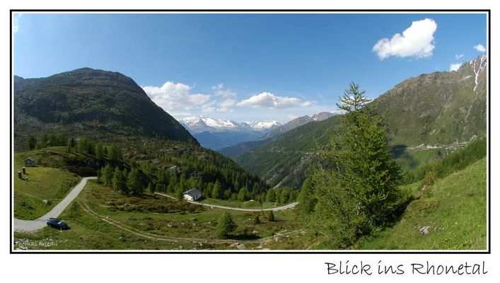 Blick vom Simplonpass ins Rhonetal