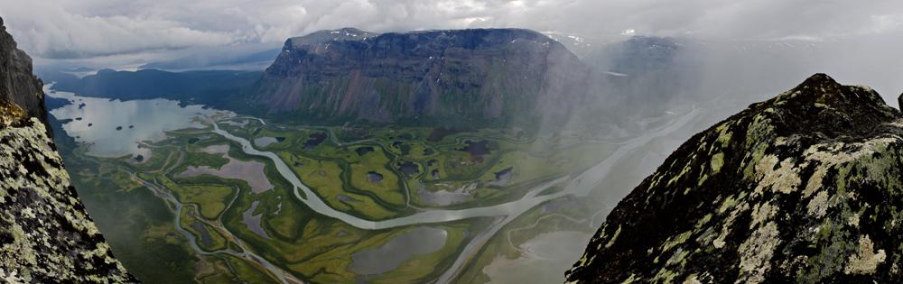 Blick vom Skierffe - Sarek Nationalpark