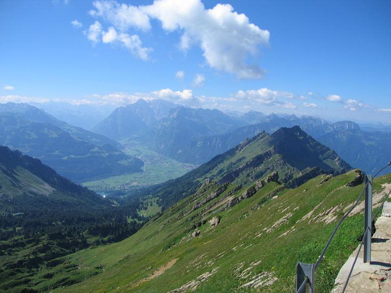 Blick vom Speer ins Glarnerland