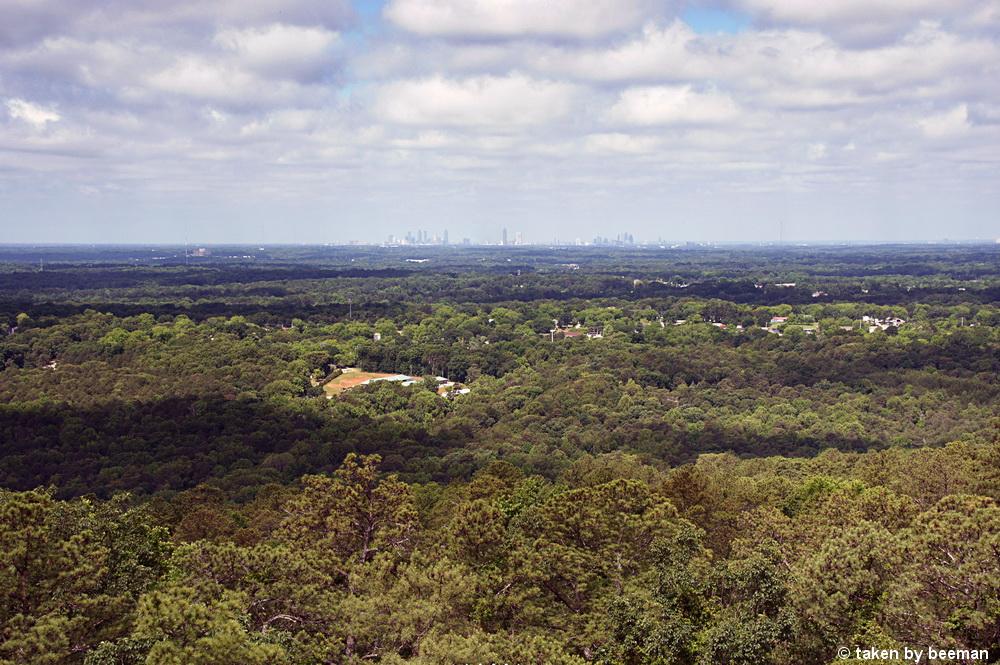 Blick vom Stone Mountain