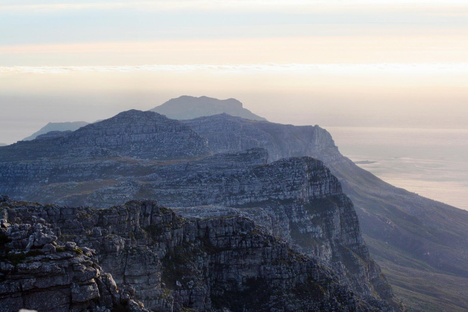 Blick vom Tafelberg bei Sonnenuntergang