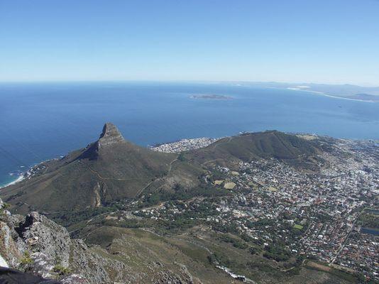Blick vom Tafelberg nach Kapstadt