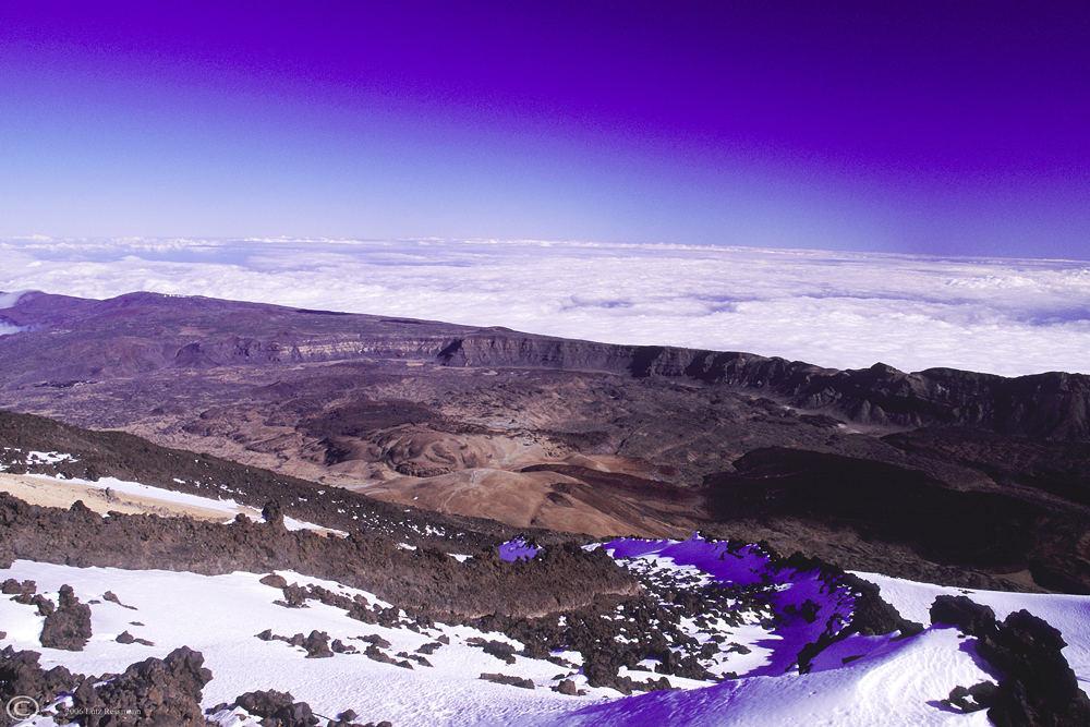 Blick vom Teide in die Caldera