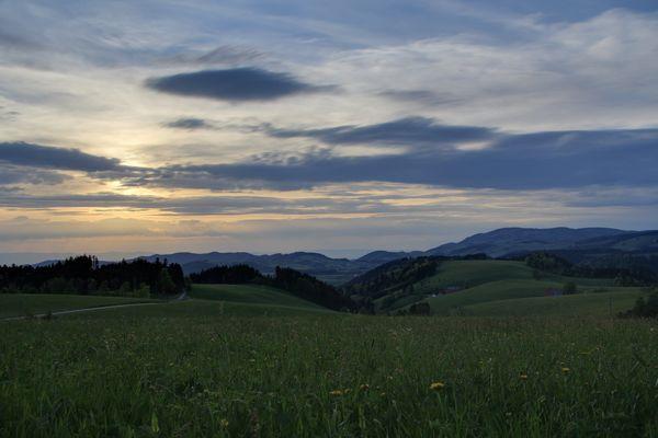Blick vom Thurner in Richtung Westen