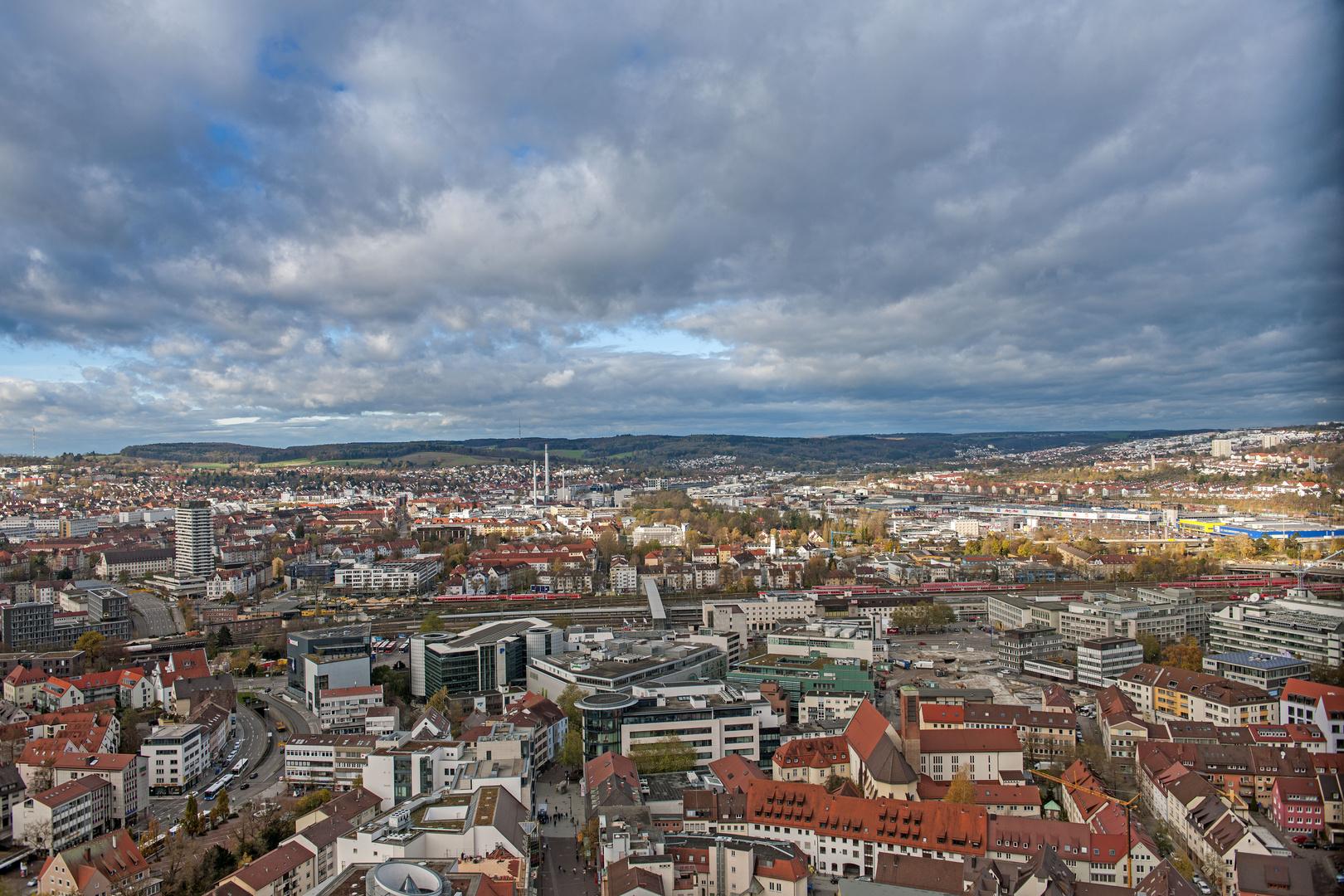 Blick vom Ulmer Münster - über 800 Stufen gehts nach oben