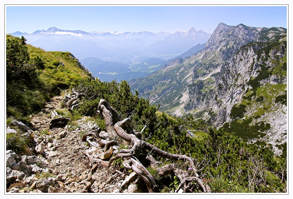 Blick vom Untersberg zum Watzmann