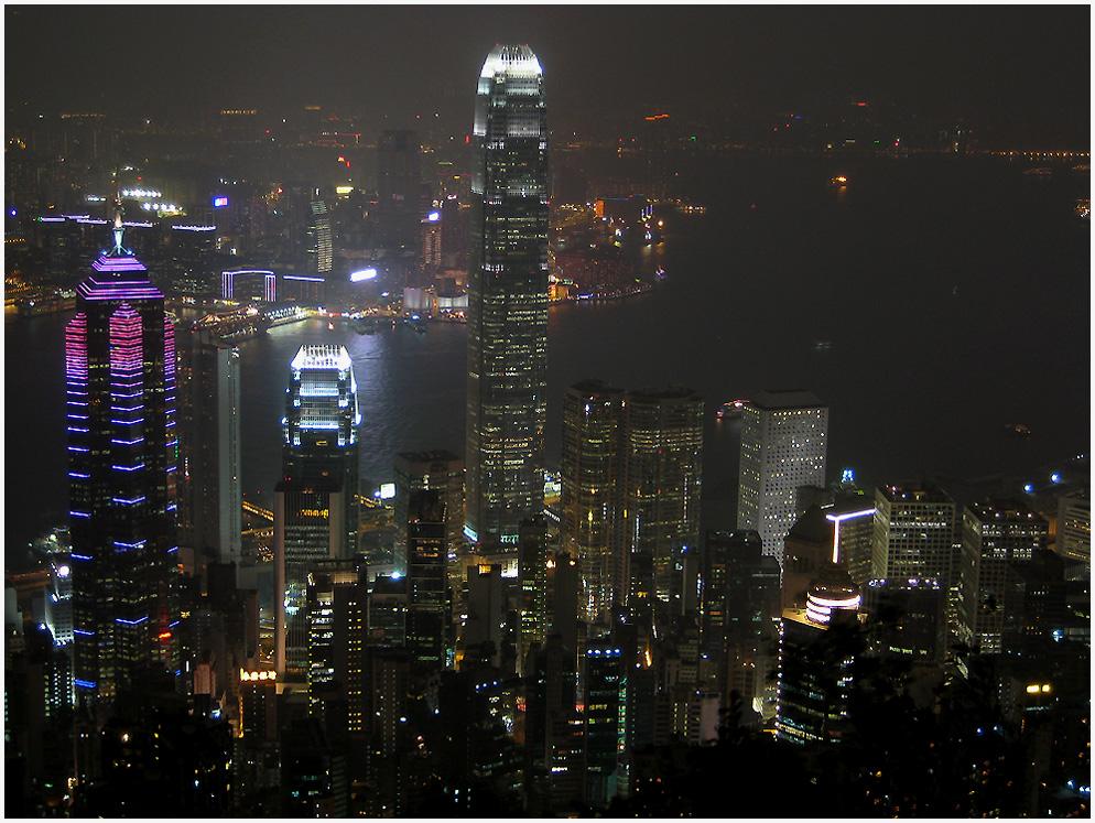 Blick vom Victoria Peak Richtung Kowloon
