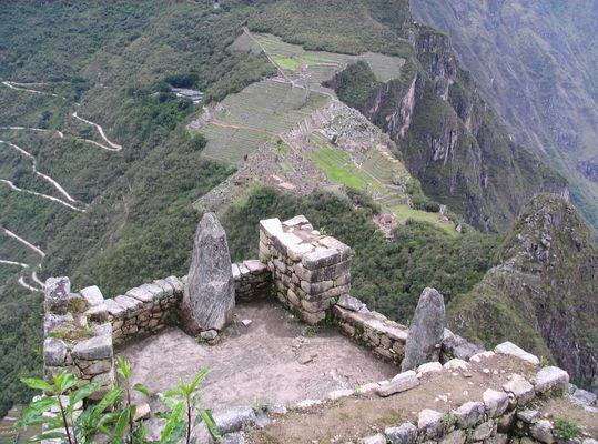 Blick vom Waynapicchu auf Machu Picchu.