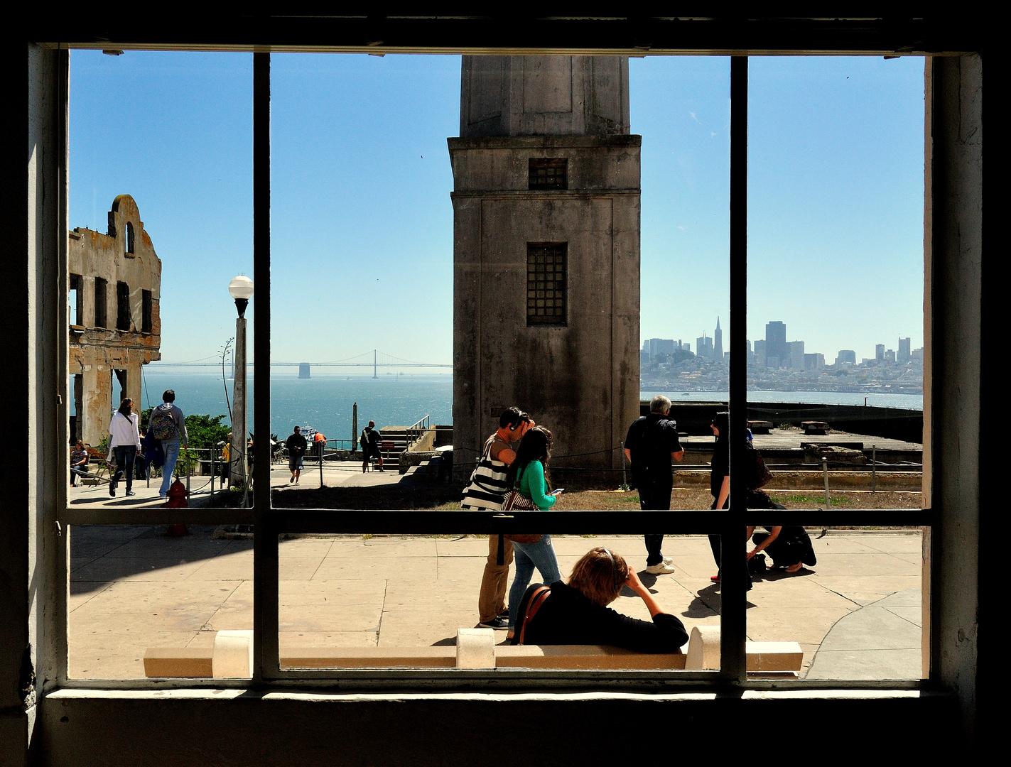 Blick von Alcatraz auf Skyline