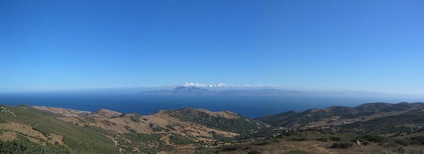 Blick von Andalusien (in der Nähe von Gibraltar) nach Afrika