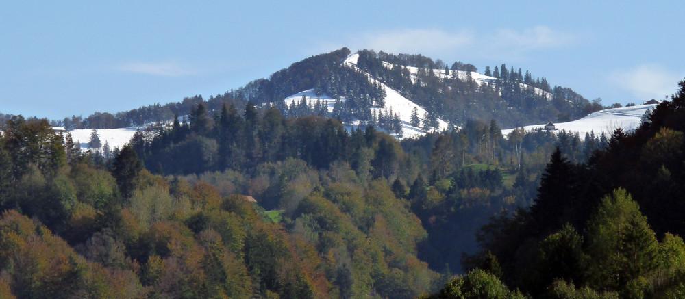 Blick von Bauma Richtung Schnebelhorn