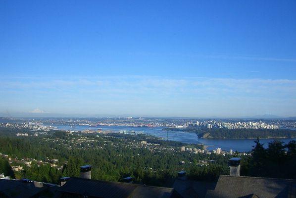 """Blick von """"British Properties""""auf Vancouver"""
