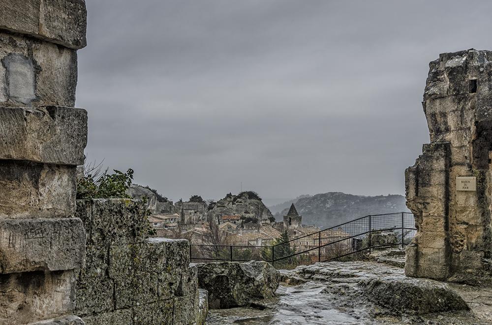 Blick von Chateau des Baux... auf Les Baux